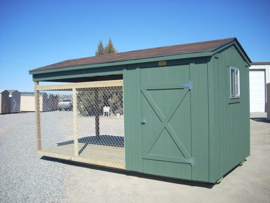 Custom shed dog kennel