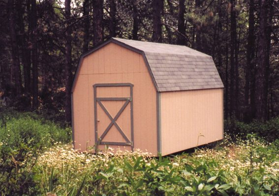lofted barn forested setting