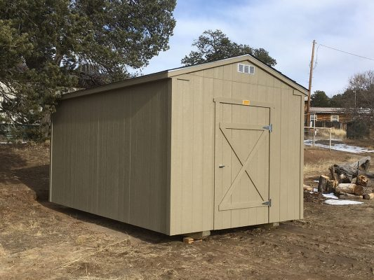 Ranch shed with single door