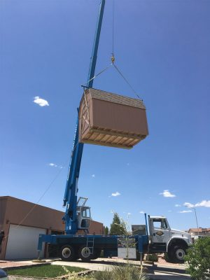 crane storage shed aloft