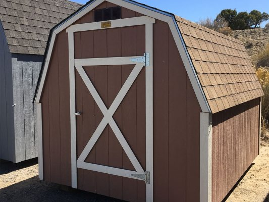 Custom barn with single door