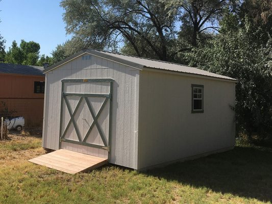 Ranch shed with full ramp