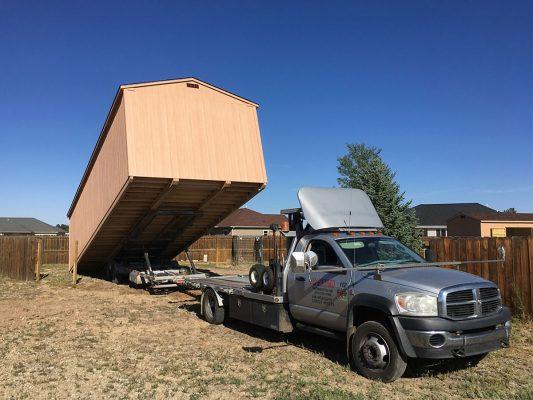 unloading shed trailer