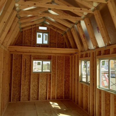 10x20 Lofted Barn Inside