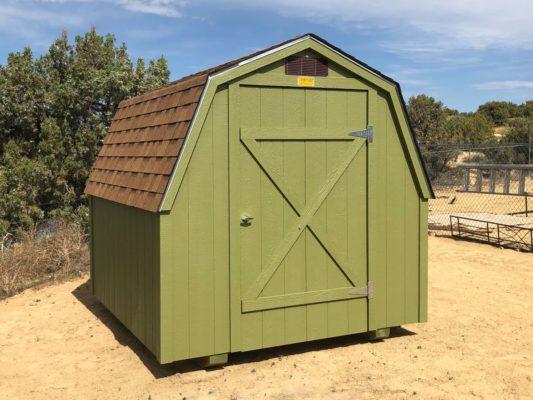 Green 8x8 Barn