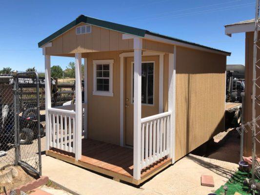 8x12 Ranch porch custom railing