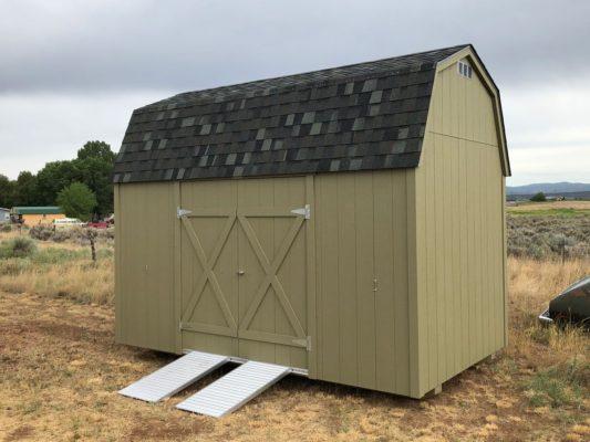 8x14 Lofted Barn with ramp