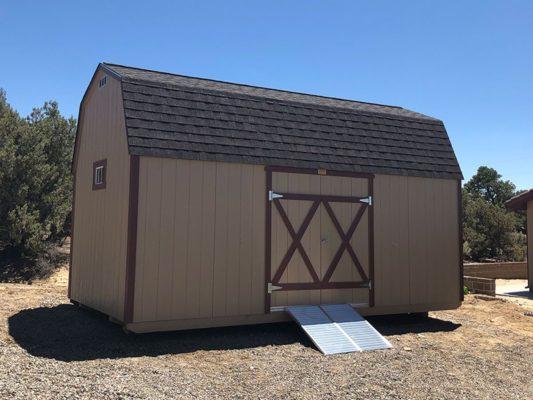 10x20 Lofted Barn with ramp