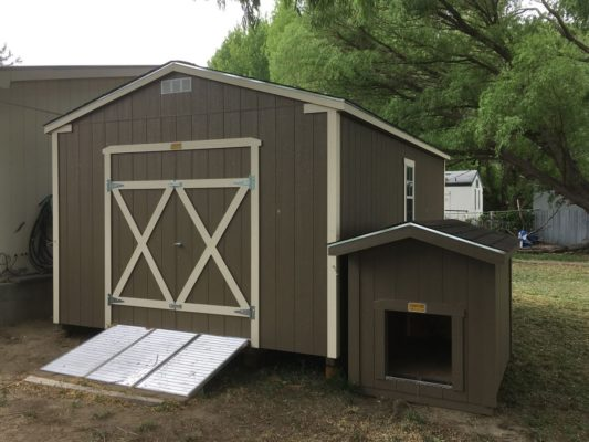 Doghouse matching ranch style mini barn
